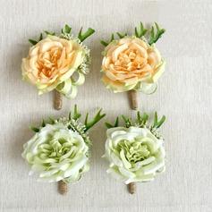 Süß Kunstseide Blumen-Sets (Satz von 2) - Armbandblume/Knopflochblume