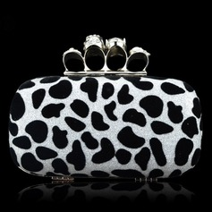 Charming Velvet/Alloy Clutches