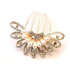 Fashion Rhinestone/Alloy/Imitation Pearls Combs & Barrettes