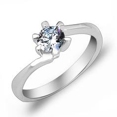 Elegant Zircon/Platinum Plated Ladies' Rings