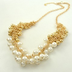 Exotic Alloy With Imitation Pearl Ladies' Fashion Necklace