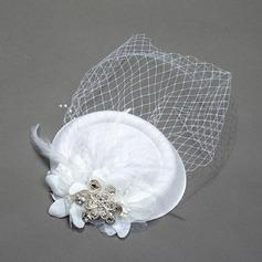 Dames Cru Printemps/Été/Automne/Hiver Fil net avec Chapeaux de type fascinator