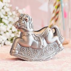 Lovely Hobbyhorse Shaped Tin Alloy Money Box