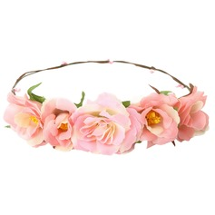 Lovely Cotton/Ribbon/Rattan Straw Headdress Flower