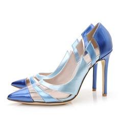 Kvinnor Lackskinn Stilettklack Pumps med Split gemensamma skor