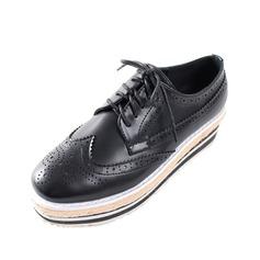 Femmes Similicuir Talon plat Chaussures plates avec Lanière tressé Semelle chaussures