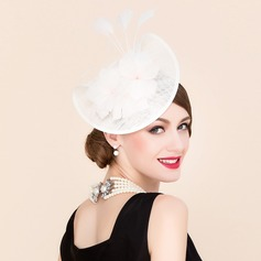 Ladies' Vintage Cambric With Silk Flower Fascinators