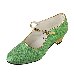 Women's Kids' Leatherette Pumps Modern Practice With Buckle Dance Shoes