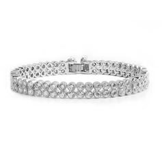 Shining Copper/Zircon/Platinum Plated Ladies' Bracelets