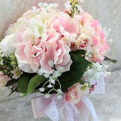 Elegant Round Satin Bridal Bouquets/Bridesmaid Bouquets