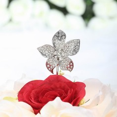 Flower Shaped Chrome Wedding Cake Topper