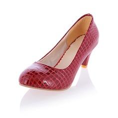 Imitação de couro Salto baixo Bombas Fechados sapatos