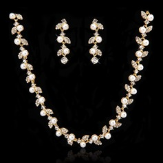 Shining Alloy With Pearl/Crystal Ladies' Jewelry Sets