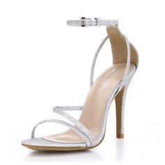 Women's Sparkling Glitter Stiletto Heel Sandals shoes