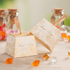 """""""Sweet Love"""" Cuboid Favor Boxes With Ribbons (Set of 12)"""