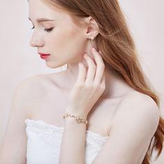 Shining Alloy With Rhinestone Ladies' Bracelets