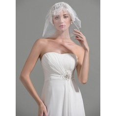 Two-tier Cut Edge Russian Veils With Lace