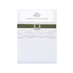 Classic Style Wrap & Pocket Invitation Cards