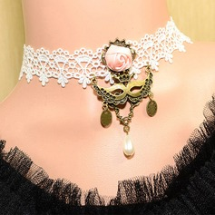 Mysterious Mask Alloy/Lace Women's Necklaces