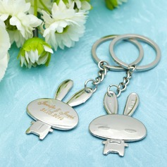 "Personalized ""Cartoon Rabbit"" Stainless Steel Keychains"