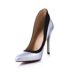 Similicuir Soie comme du satin Talon stiletto Escarpins Bout fermé avec Semelle chaussures