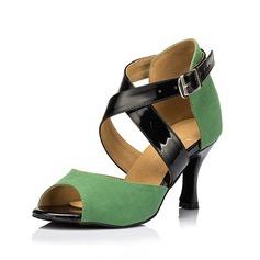 Women's Suede Heels Sandals Latin Dance Shoes