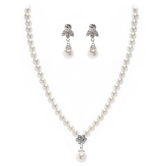 Elegant Alloy/Pearl Women's Jewelry Sets