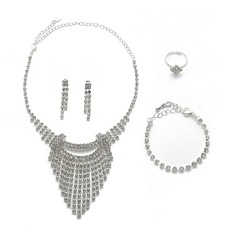 Vintage Alloy/Rhinestones Ladies' Jewelry Sets