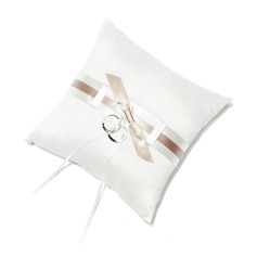 Pure Elegance Ring Pillow in Satin With Bow