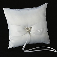 Butterfly Story Ring Pillow With Rhinestones