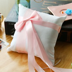 Lovely Ring Pillow in Satin With Ribbons