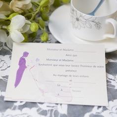 Bride & Groom Style Flat Card Invitation Cards