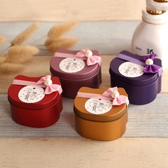 Cat Shape Favor Tin With Bow (Set of 12)