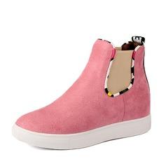 Women's Leatherette Flat Heel Boots shoes