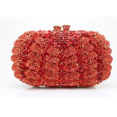 Glänzende Acryl/PU Handtaschen/Wristlet Taschen