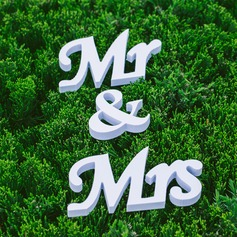 "Accesorios decorativos PVC ""Mr. & Mrs."" Pretty Carta Decoraciones de boda"