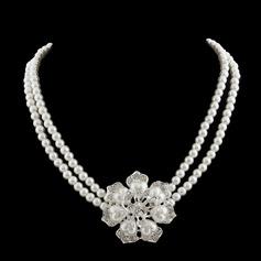 Hermoso Perla/Diamantes de imitación Señoras' Collares