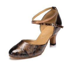 Women's Leatherette Pumps Modern With Ankle Strap Dance Shoes
