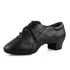 Real Leather Flats Latin Ballroom Dance Shoes