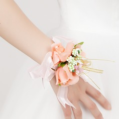 Fancy Free-Form Satin Wrist Corsage