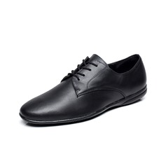 Men's Real Leather Flats Sneakers Practice Dance Shoes