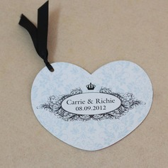 Personalized Crown Design Pearl Paper Invitation Cards With Ribbons