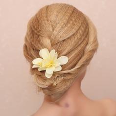 Glamorosa Tela Peines y pasador/Flores y plumas