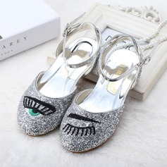 Girl's sprankelende glitter low Heel Pumps