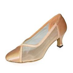 Women's Satin Pumps Modern Dance Shoes