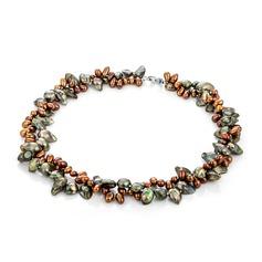 Moda Perla/Perlas de agua dulce Collares