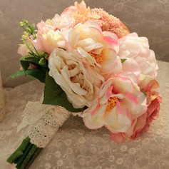 Attractive Hand-tied Artificial Silk Bridal Bouquets/Bridesmaid Bouquets -