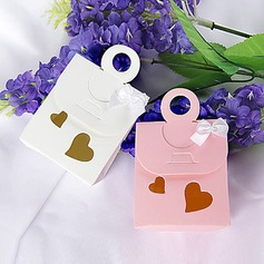 Double Heart Cutout Favor Bag With Bow (Set of 12) (050015755)
