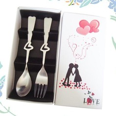 Heart Design Stainless Steel Spoon And Fork Set