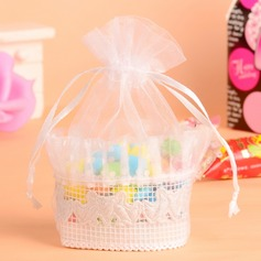 Cute Animal Basket Favor Bags With Ribbons (Set of 12)